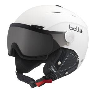 2017-18 Bolle Backline Visor Premium Ski And Snowboard Helmet white
