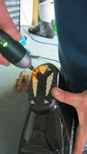 Worn Ski Boot Heel Rubber Removal