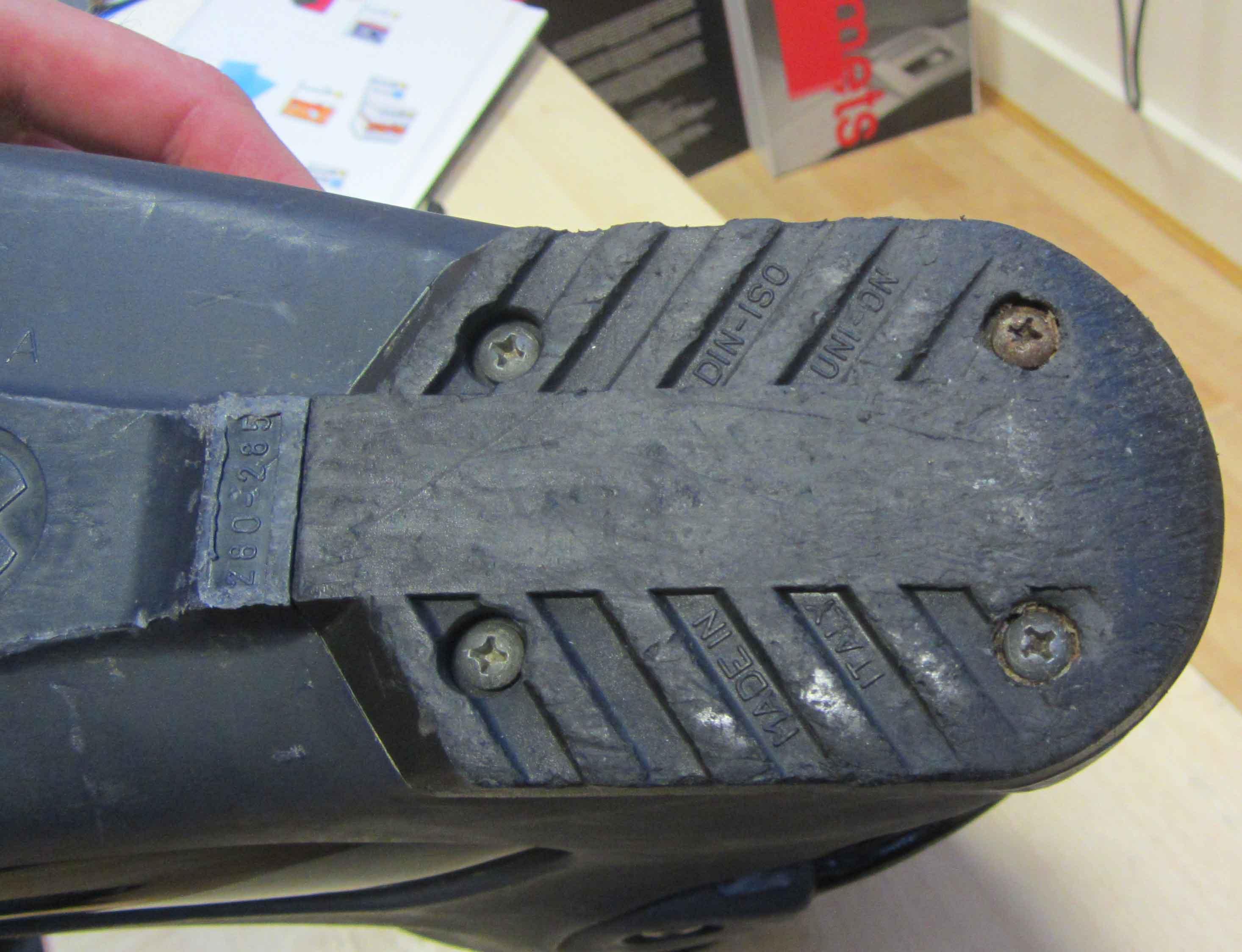 Worn Ski Boot Heel Rubber