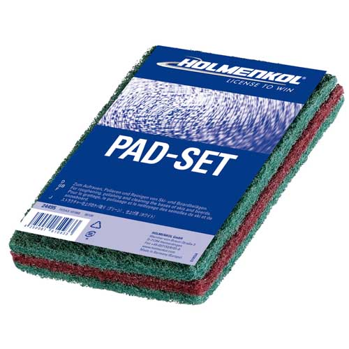 Holmenkol PadSet Ski Base Roughening and Polishing Pads