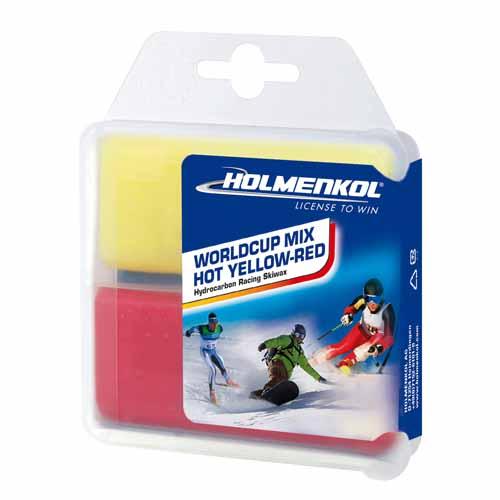 Holmenkol Worldcup Mix Ski Hot Yellow-Red