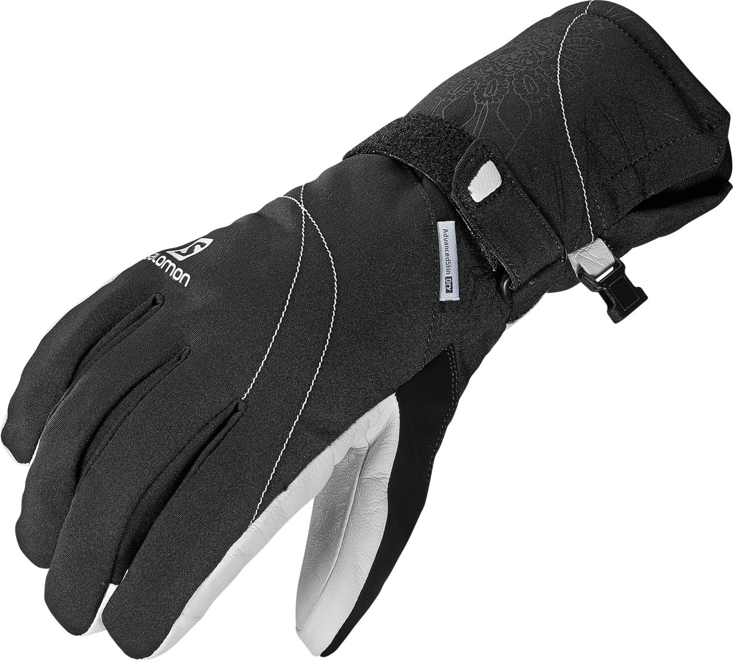 2017-18 Salomon Propeller Dry Womens Ski Glove Black and White
