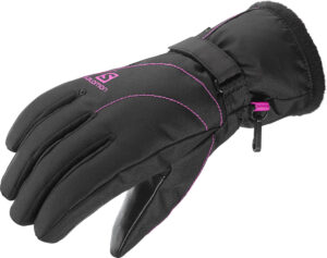 2017-18 Salomon Force GTX Womens Ski Glove Black rose