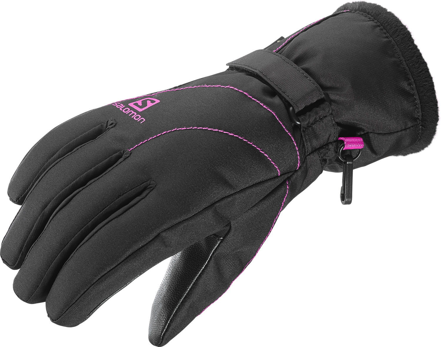2017-18 Salomon Force GTX Womens Ski Glove Black rose