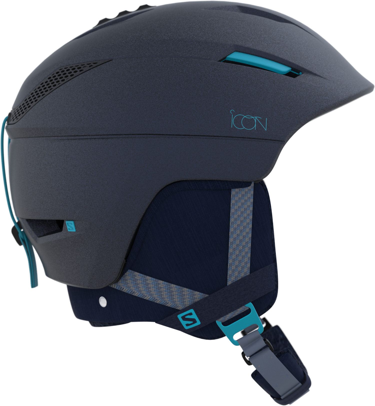 2017-18 Salomon Icon 2 Custom Air Womens Ski Helmet Wisteria Navy