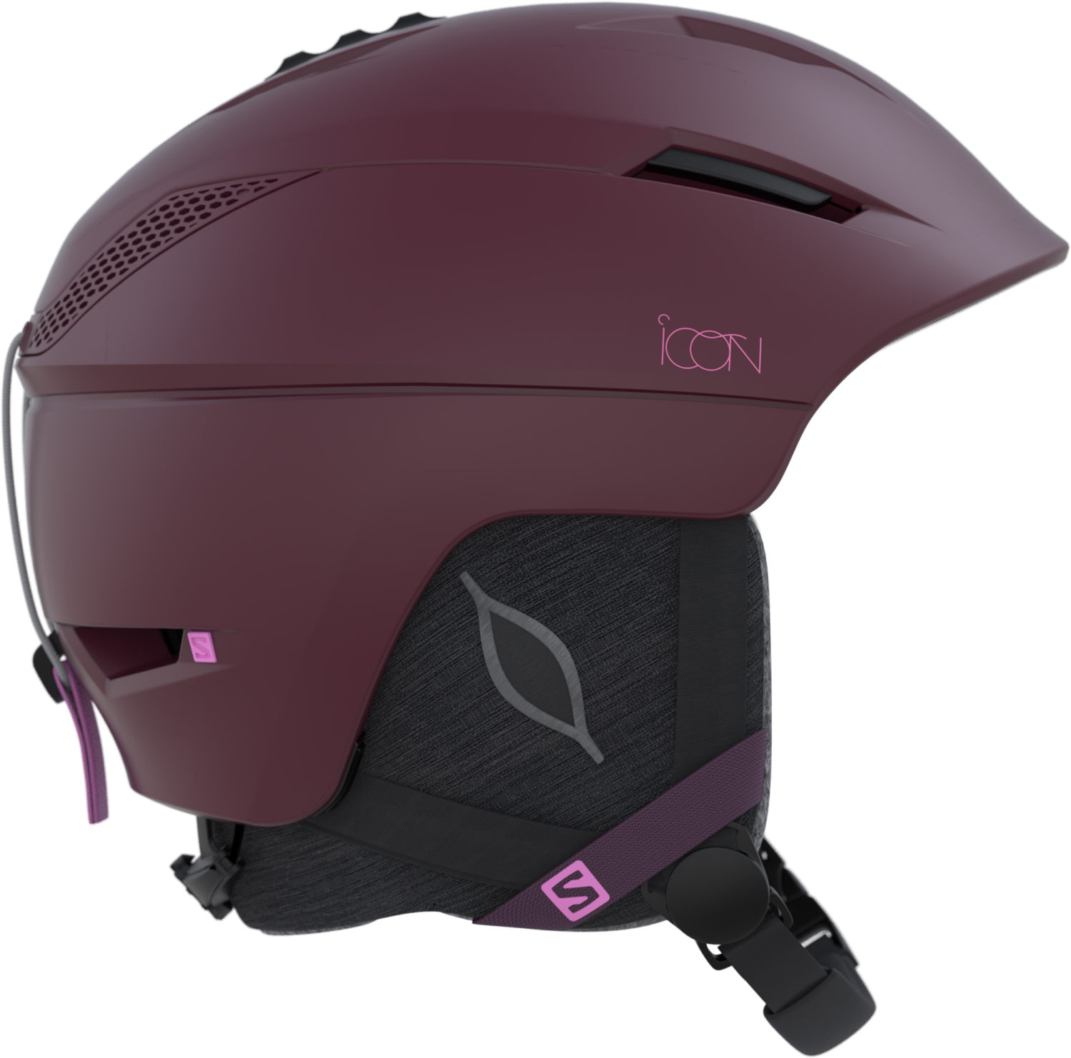2017-18 Salomon Icon 2 Womens Ski Helmet Beet Red