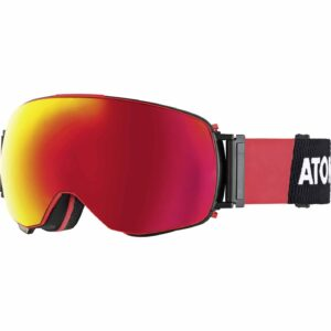 2017-18 Atomic Revent Q ML Ski Goggle Black-Red/Red Stereo