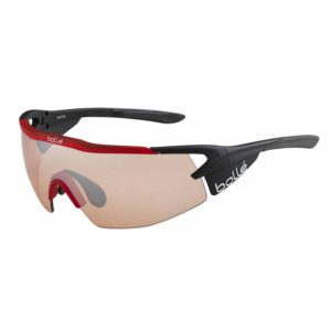 Bolle Aeromax Matte Black/Trans Red Photo Cycling Glasses