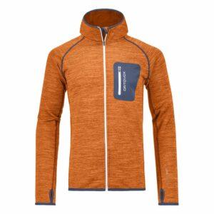 2018-19 Ortovox Mens Fleece Melange Hoody crazy orange blend