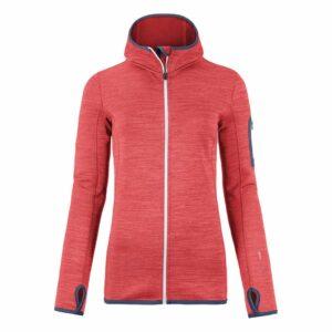 2018-19 Ortovox Womens Fleece Melange Hoody hot pink