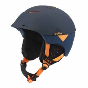2018-19 Bolle Synergy Ski And Snowboard Helmet soft navy & orange
