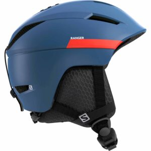 2018-19 Salomon Ranger 2 Ski and Snowboard Helmet morrocan blue neon red