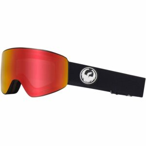 2018-19 Dragon PXV Ski and Snowboard Goggle black red ion