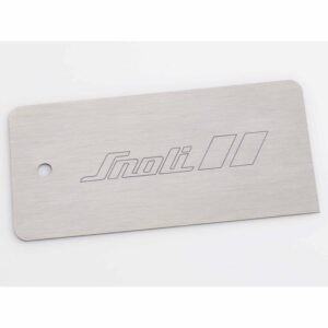 Snoli Stainless Steel Metal Ski and Snowboard Base Scraper