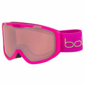 2019-20 bolle rocket junior ski goggle matte pink bear vermillon lens