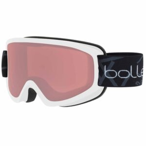 2019-20 bolle freeze ski goggle matte white vermillon gun lens
