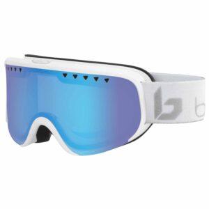 2019-20 bolle scarlett womens ski goggle matte white & silver corp polarised aurora lens