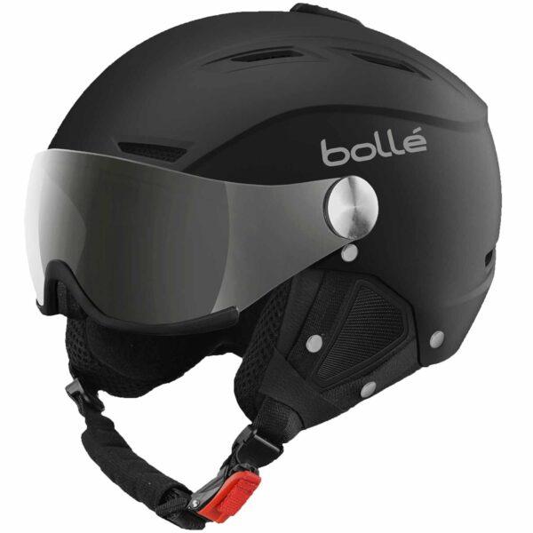 2019-20 bolle backline visor ski helmet soft black and silver