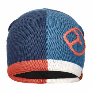 2019-20 ortovox patchwork merino beanie night blue