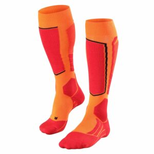 falke sk2 mens ski sock flash orange front