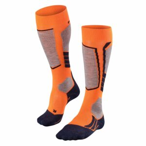 2019-20 falke sk2 womens ski sock flash orange front