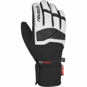2019-20 reusch master ski glove black white