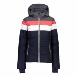CMP Zip Hood Womens Stripy Ski Jacket