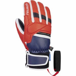 2019-20 reusch be epic mens ski glove dress blue fire red