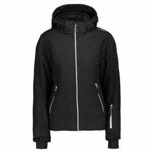 cmp zip hood womens black ski jacket