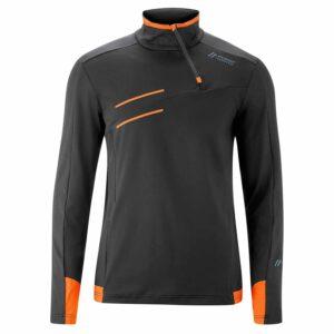 2019-20 maier neo mens sweater black shocking orange