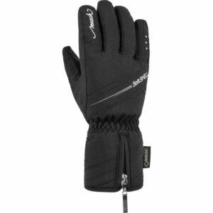 reusch selina womens ski glove black silver
