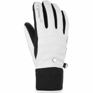 reusch thais womens ski glove white black