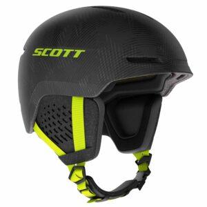 2717556626 Scott Track Plus Ski Helmet Dark Grey/Ultralime Yellow