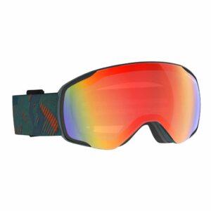 2718096624341 Scott Vapor Light Sensitive Ski Goggles Sombre Green Pumpkin Orange